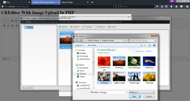 Ckeditor With Filebrowse And Upload In Php - Coder Point
